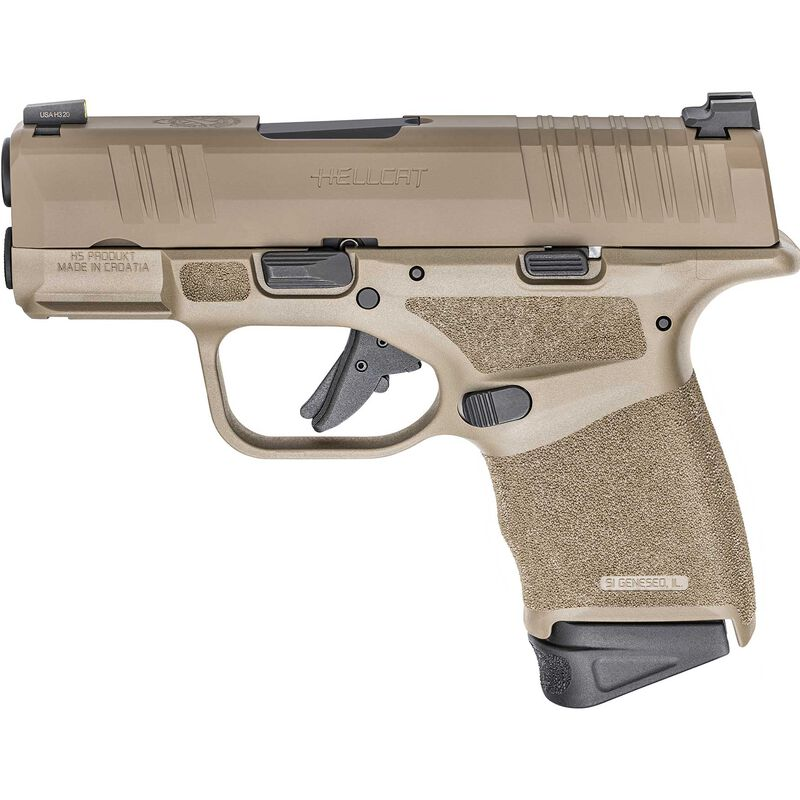 "Springfield Armory HELLCAT 9mm Semi Auto Pistol 3"" Barrel 13 +1 Rounds Desert FDE"